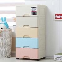 花尔特大号储物箱收纳箱抽屉式收纳柜加厚塑料宝宝衣柜婴儿童 7层(38*32*118 cm)