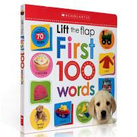 英文原版 Life the Flap First 100 Words 幼儿启蒙认知英语单词 3-6岁低幼儿童英语绘本学习纸板书 西文英文亲子绘本馆专营店
