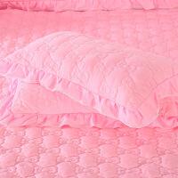 夹棉枕套一对枕头套加厚磨毛4874cm大枕套花边韩版定制 48cmX74cm