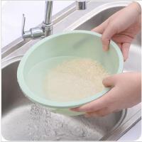 淘米盆 塑料洗菜水果淘米盆厨房家用淘米沥水篮