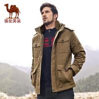 骆驼男装新款男士棉衣秋冬季棉服休闲外套直筒青年棉衣