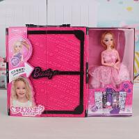 巴比娃娃套装衣柜梦幻衣橱公主大礼盒换装洋娃娃女孩儿童玩具礼物 30厘米