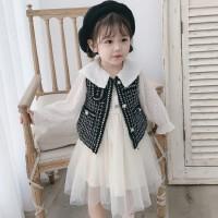 2019新款儿童小女孩洋气公主裙子女童小香风秋装连衣裙套装