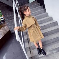 女童秋装风衣外套小女孩长款上衣儿童洋气春秋时尚中大童