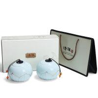 茶叶包装礼盒 空新款通用半斤绿茶红茶叶罐 陶瓷中号密封罐双罐定制