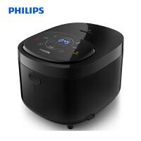 飞利浦(PHILIPS)电饭煲 家用多功能4L智能预约智芯IH加热 麦饭石精铁锅可拆洗黑色 HD4528/00