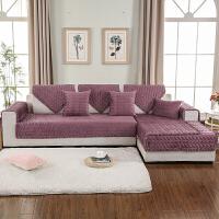 冬季毛绒沙发垫布艺防滑坐垫简约现代皮欧式沙发套全包套罩巾定制