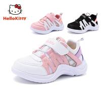 【4折价:107.6元】HelloKitty凯蒂猫童鞋 女童运动鞋 春季新款女孩网面跑步鞋 公主休闲鞋K9513823