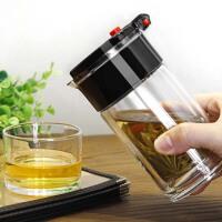 双层玻璃耐高温飘逸杯茶具冲茶壶全过滤泡茶杯玲珑杯