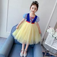 女童连衣裙洋气纱裙夏装儿童裙子童装夏季女孩白雪公主裙