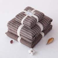 天竺棉四件套全棉纯棉条纹针织棉床上三件套被套宿舍学生单人定制