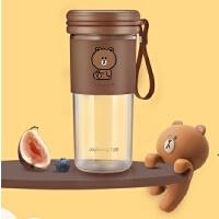 九阳(Joyoung)line榨汁机杯家用小型便携式多功能炸果汁电动全自动原汁布朗熊棕色