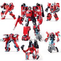 变形玩具金刚变形机器人超大汽车合金吊车消车救护车警车挖掘机