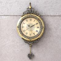 欧式钟表挂钟客厅个性创意现代时尚时钟美式家用艺术挂表大气简约情人节礼物 20英寸
