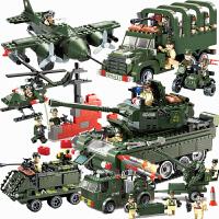 积木legao玩具 儿童拼装军事坦克飞机系列男孩益智力拼插模型