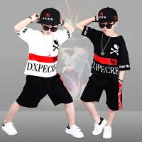女童爵士舞演出服夏季儿童表演套装男童嘻哈街舞胖童衣服