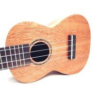 Ashtons  ukulele 尤克里里 23寸 C型 乌克丽丽 ukulele 音孔 贝壳镶嵌 琴身包边 奥古曼背侧板 (面单) UKE400SMH--400824 (送:送背包 套弦 尤克里里拨片 教材)