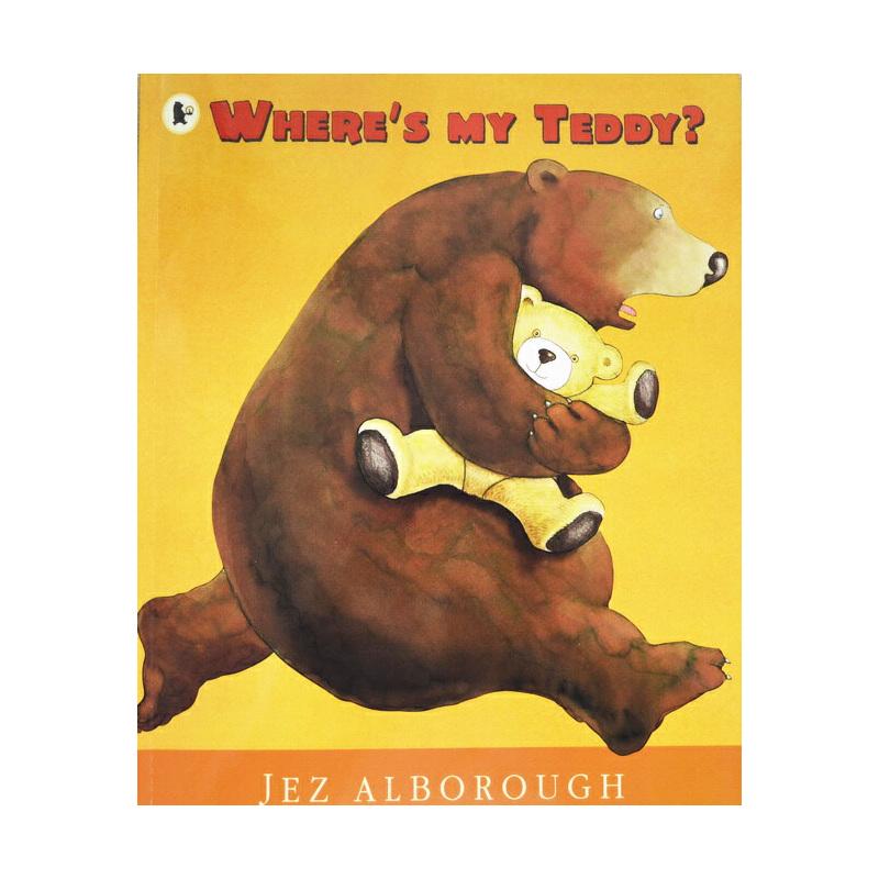 廖彩杏书单英文原版绘本 Where's My Teddy? 我的泰迪熊去哪了?  Jez Alborough 韵文