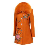新款潮中老年女装冬装毛呢外套中年女妈妈装厚外套女50-60岁