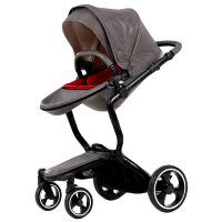 婴儿推车高景观婴儿推车双向坐躺折叠轻便四轮Ving车