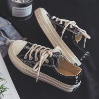 秋季男士帆布鞋韩版潮流男鞋学生布鞋原宿板鞋百搭休闲鞋透气