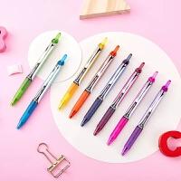 开学必备文具 晨光文具 新流行中性笔 彩色 中性笔 0.38mm 彩色水笔 AGP62403