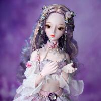 【2件5折】芭比娃娃 新年礼物 精品 德必胜娃娃梦童话系列60cm 26关节3分娃仿真玩具女孩公主礼物bjd换装 紫阳