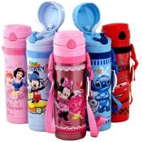 包邮!迪士尼 3414  Disney  儿童吸管保温杯 450ML软吸管背带水壶 防漏保温壶 2色可选!杯带可调节