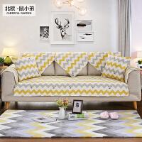 北欧 棉简约现代四季布艺沙发垫子全棉坐垫防滑沙发靠背巾套罩定制