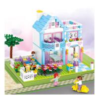 快乐小鲁班拼装儿童玩具积木公主别墅城堡城市3-6-8-9岁女孩子