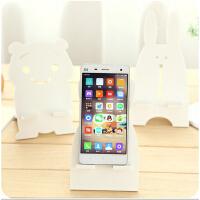 韩国创意纯白色卡通手机座 手机支架可爱简约手机托架