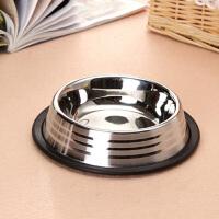 Madden 麦豆宠物用品 宠物不锈钢碗 橡胶防滑狗碗猫碗狗盆猫食盆