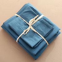 裸睡床上用品水洗棉床单四件套被套三件套1.8m床简约纯棉网红定制