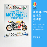 Usborne 原版英文 Build your own motorbikes sticker book 建立自己的摩托