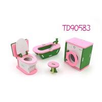仿真洗衣机马桶模型 木制创意家居儿童玩具积木个性创意摆件