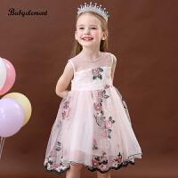 女童�B衣裙夏�b�和�花朵背心小童蓬蓬�公主裙子�Y服