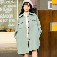 韩版学生森系小个子毛呢外套女冬中长款2018新款短款流行呢子大衣