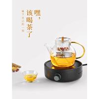 玻璃煮茶壶煮茶器小型电陶炉煮茶炉花茶黑茶泡茶壶网红普洱蒸茶壶