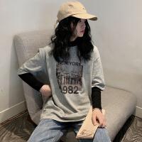 三木子快时尚女装~韩版字母印花短袖宽松打底上衣女T恤