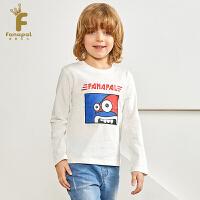 [2件5折到手价:74.5]法纳贝儿18秋冬新款男童卡通学院风套头衫长袖T恤BH3T08