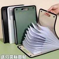 开学必备文具 康百F8807 韩国文具手提A4风琴包 商务多层文件袋 三色可选
