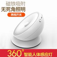 智能led小夜灯光控声控过道楼道壁灯衣柜床头灯充电池人体感应灯