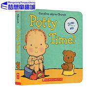 【78�x3】�F� Potty Time �R桶/��所�r�g 英文原版 我���_�R桶 生活��T�板�l��� 名家 Caroline