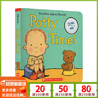 Potty Time 我会冲马桶 英文原版 生活习惯纸板发声书 名家 Caroline Jayne Church 卡罗琳杰恩