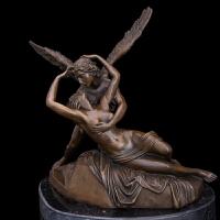 丘比特与普赛特雕塑雕像软装摆件古罗马神话人物雕塑高档铜雕欧式雕塑乔迁新居礼品