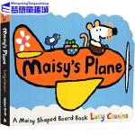 英文原版绘本0 3岁 Maisy's Plane 小鼠波波系列 波波的飞机 交通工具 儿童英语纸板书