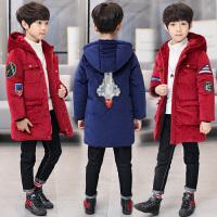 男童冬装棉衣外套2018新款童装加绒加厚儿童金丝绒中大童冬季棉衣