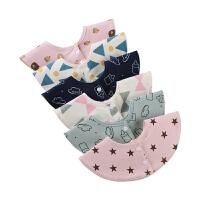 女宝宝围兜可爱围脖婴儿口水巾棉圆形围嘴360度可旋转