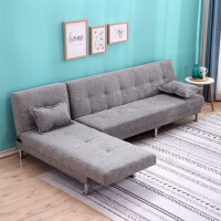 【品质推荐】客厅双三人沙发床布艺沙发床组合客厅经济小户型双三人位转角可折叠出租房两用贵妃沙发