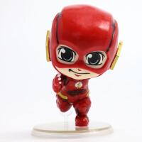正义联盟英雄 闪电侠 The Flash Q版闪电侠 公仔盒蛋模型